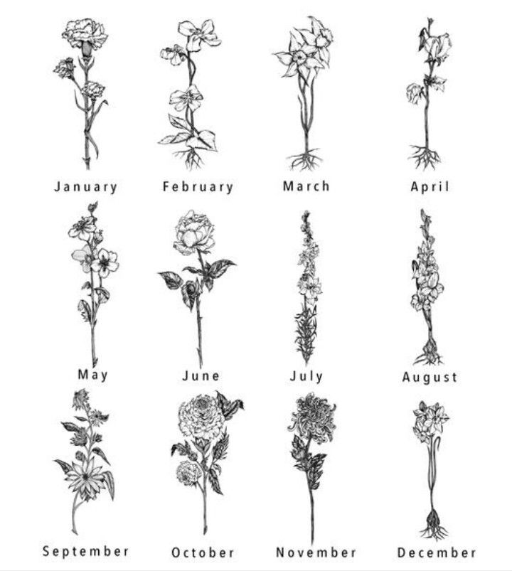 Birth Flower Tattoos: Tattoos, Birth Flower Tattoos