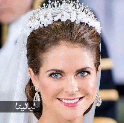 مكياج عروس ناعم جدا مستوحى من مكياج الأميرات في حفلات زفافهن Bridal Updo Bridal Crown Jewelry