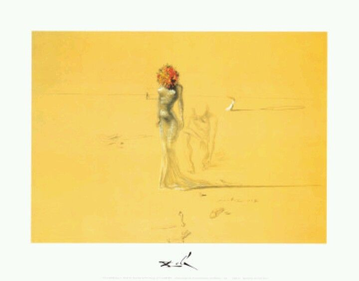 La femme et la tete de fleur - Painting of Salvador Dali | //C\'est l ...