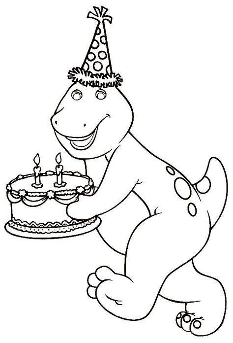 Barney Bringing A Birthday Cake | Party printables | Pinterest