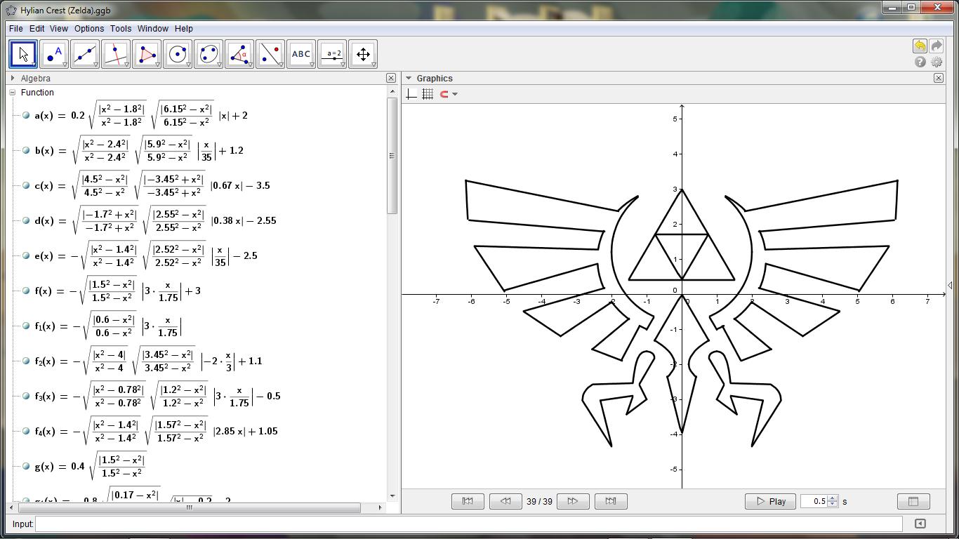 Legend Of Zelda Triforce Math design, Logo design, Graphing