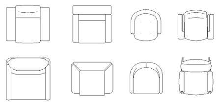 Poltrone dwg 2d poltrone autocad design e pasta for Sedie design dwg