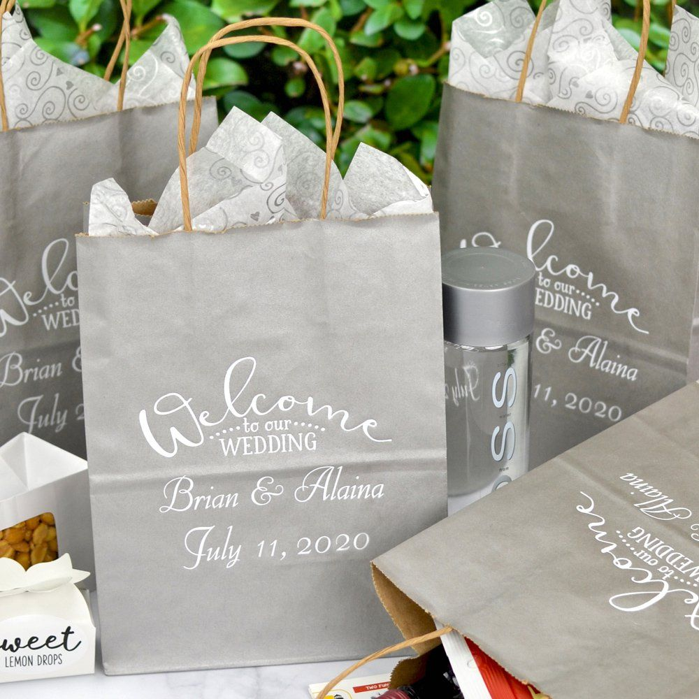 8 X 10 Kraft Wedding Welcome Gift Bags Personalized Wedding Hotel Gifts Wedding Welcome Gifts Wedding Hotel Gift Bags