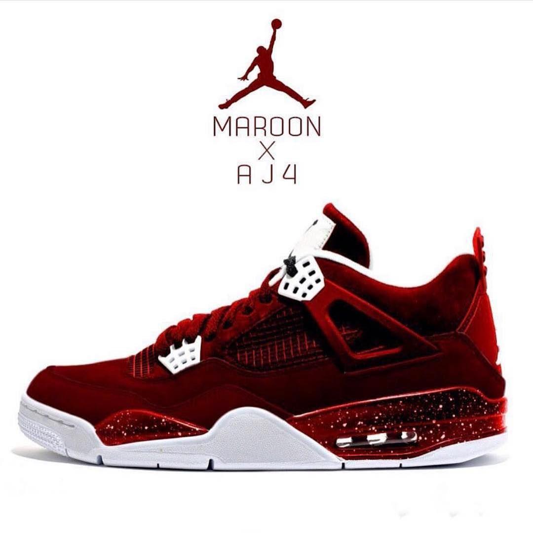purchase cheap 432d3 b04b9 The Maroon AJ4 #DopeKickz (@DopeKickz) #MAJ4 | that's tight ...