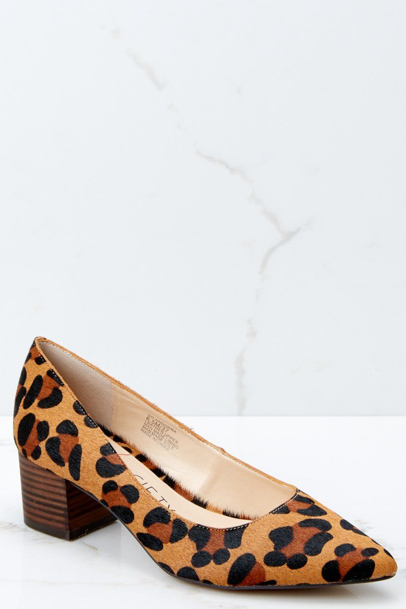 9bfafce2019943 Sole Society Andorra Pumps - Leopard Print Block Heels - Shoes -  89 – Red  Dress Boutique