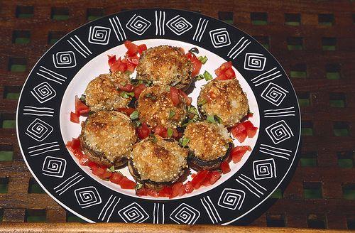 Crab stuffed mushroom