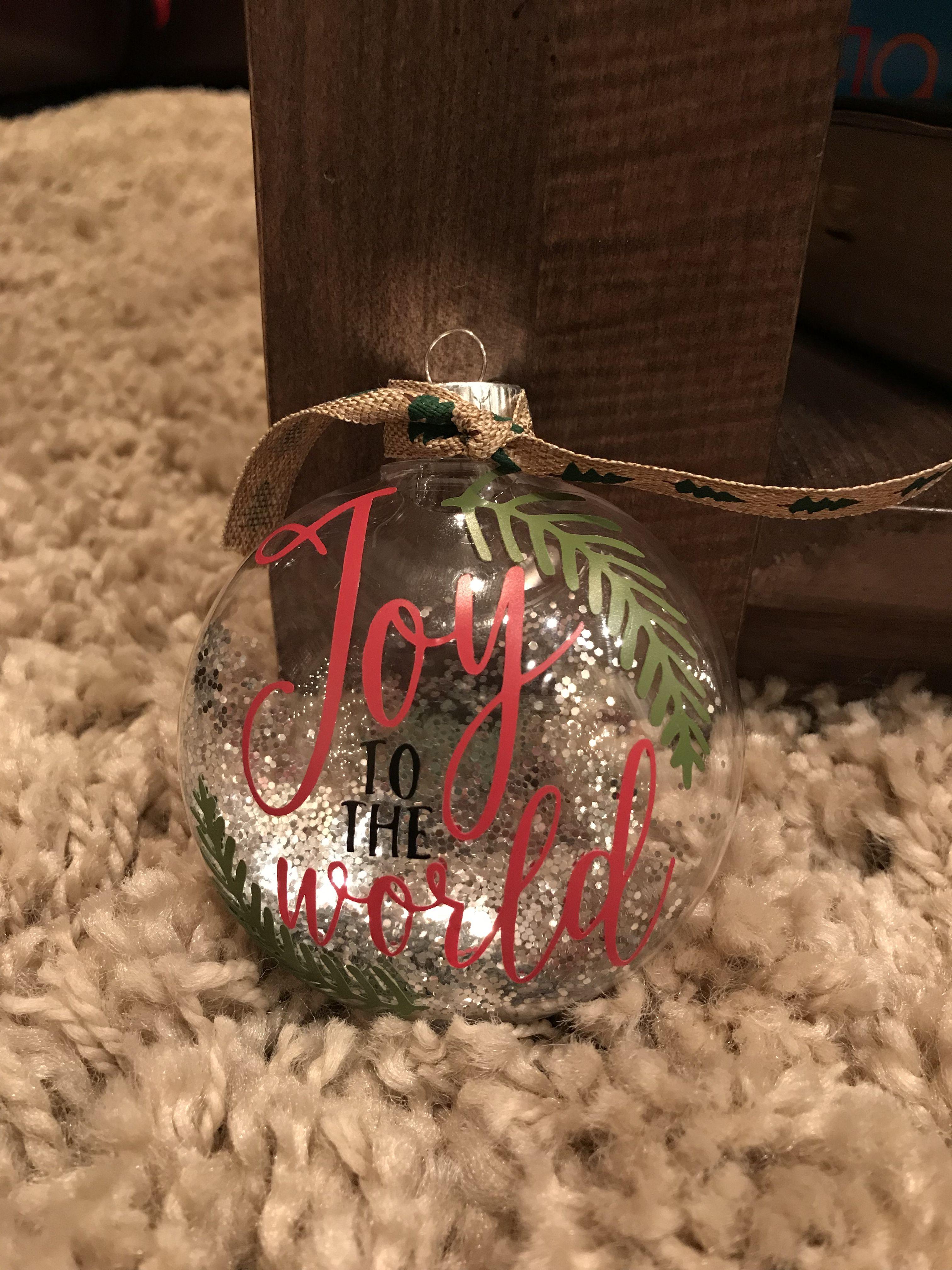 Joy To The World Christmas Ornament Christmas Ornaments Kids Christmas Ornaments Cricut Creations