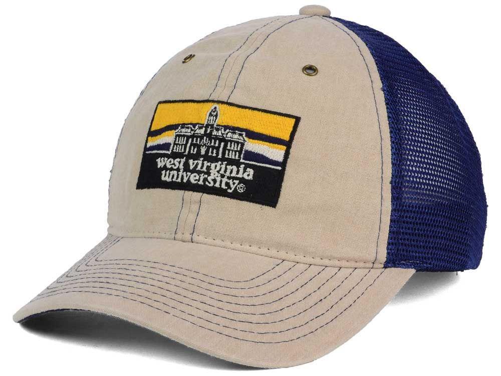 1631834d West Virginia Mountaineers Zephyr NCAA Landmark Mesh Hat ...