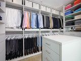 The Living Space Closet - HIS - modern - closet - los angeles - by Lisa Adams, LA Closet Design