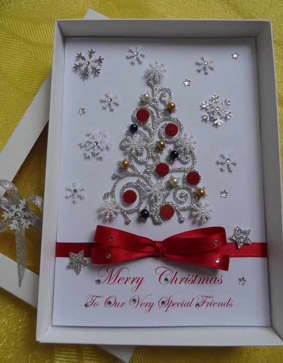 Handmade Personalised 3d Christmas Card New Year Noel Card