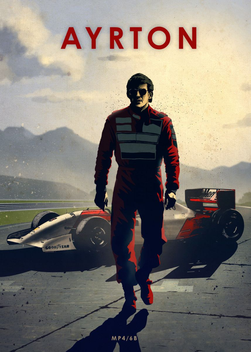 'Ayrton ' Poster Print by Eden Design   Displate