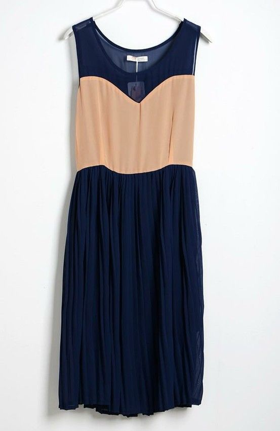 So pretty. Navy and Beige.