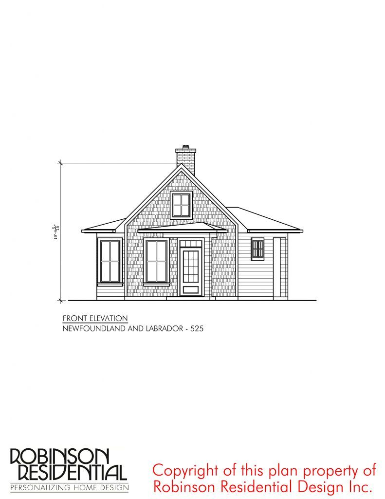 Newfoundland And Labrador 525 Robinson Plans Newfoundland And Labrador Small House House Plan With Loft