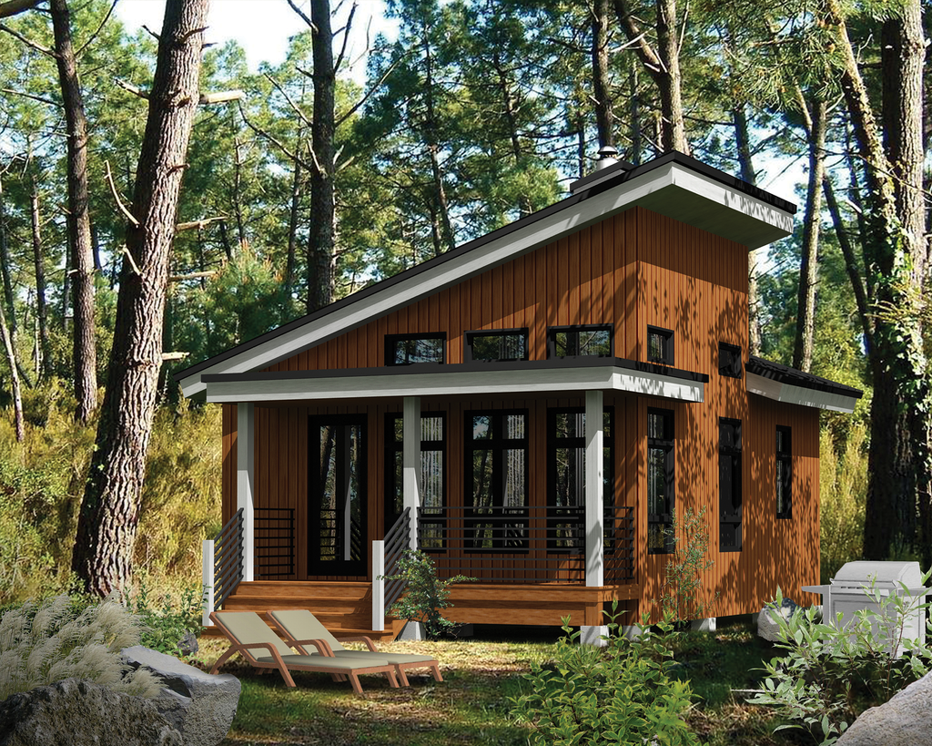 Cabin Style House Plan 1 Beds 1 Baths 480 Sq Ft Plan 25 4286 Contemporary House Plans Tiny House Cabin Cabin House Plans