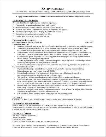 Onebuckresume Resume Layout Resume Examples Resume Builder Resume Samples Resume Event Planner Resume Event Management Business Event Management