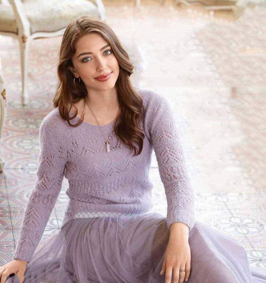 Вязание тонкого пуловера спицами
