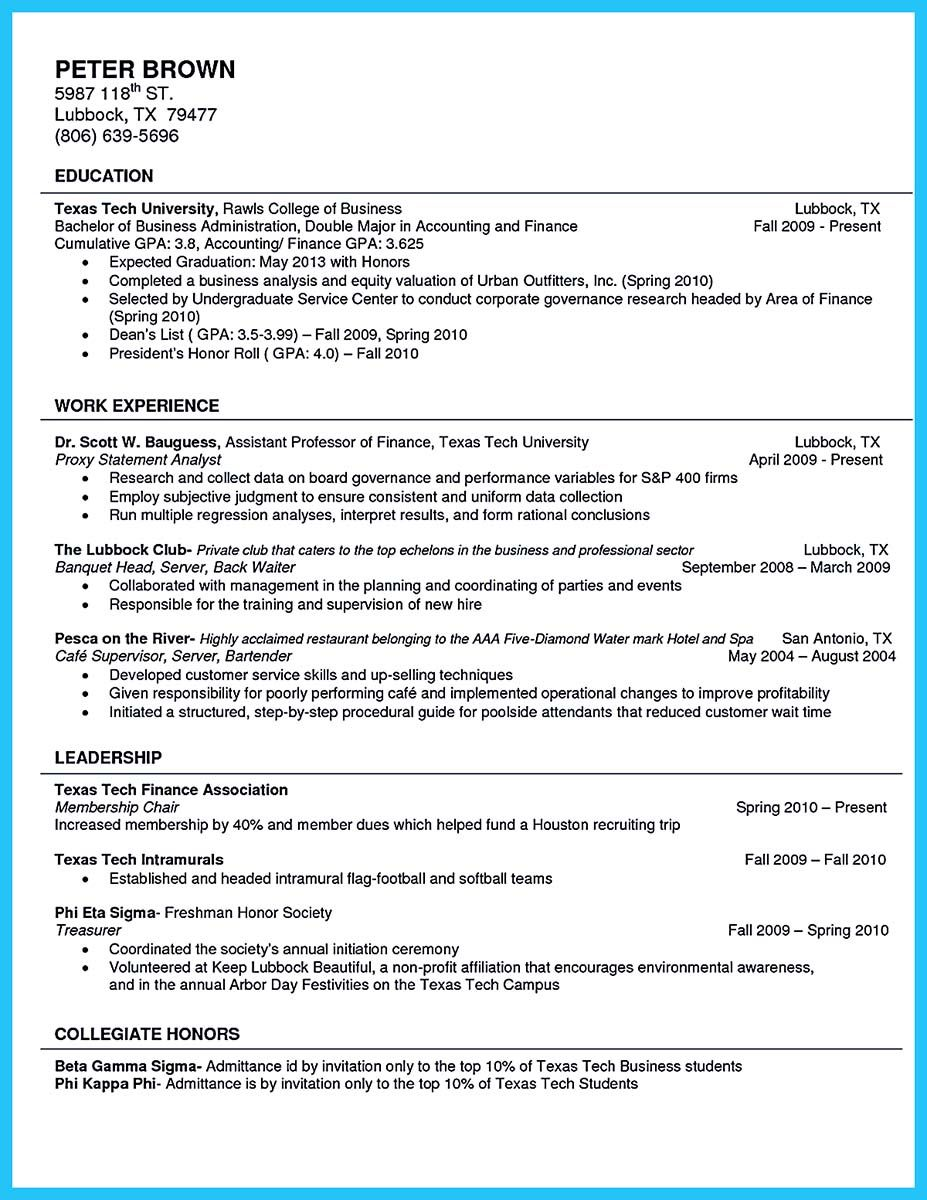 Awesome Best Current College Student Resume With No Experience