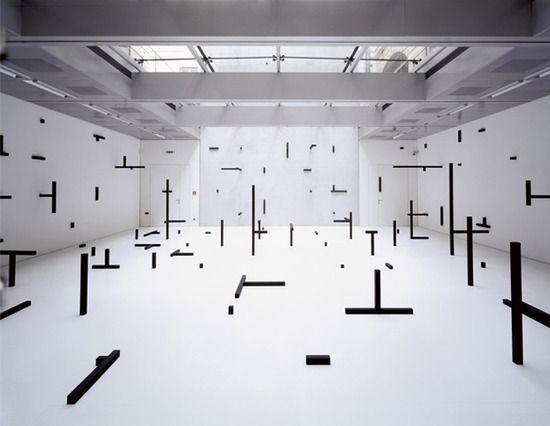 Esther stocker for Minimal art installation