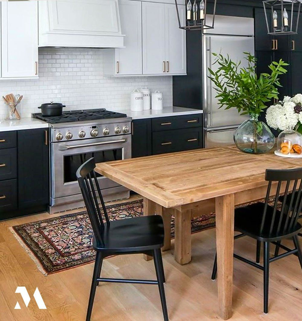 Spring Flowers Bright Greenery Monogram Appliances And A Welcoming Table In This Elegant Yet In 2020 Professional Kitchen Appliances Warm Kitchen Kitchen Appliances