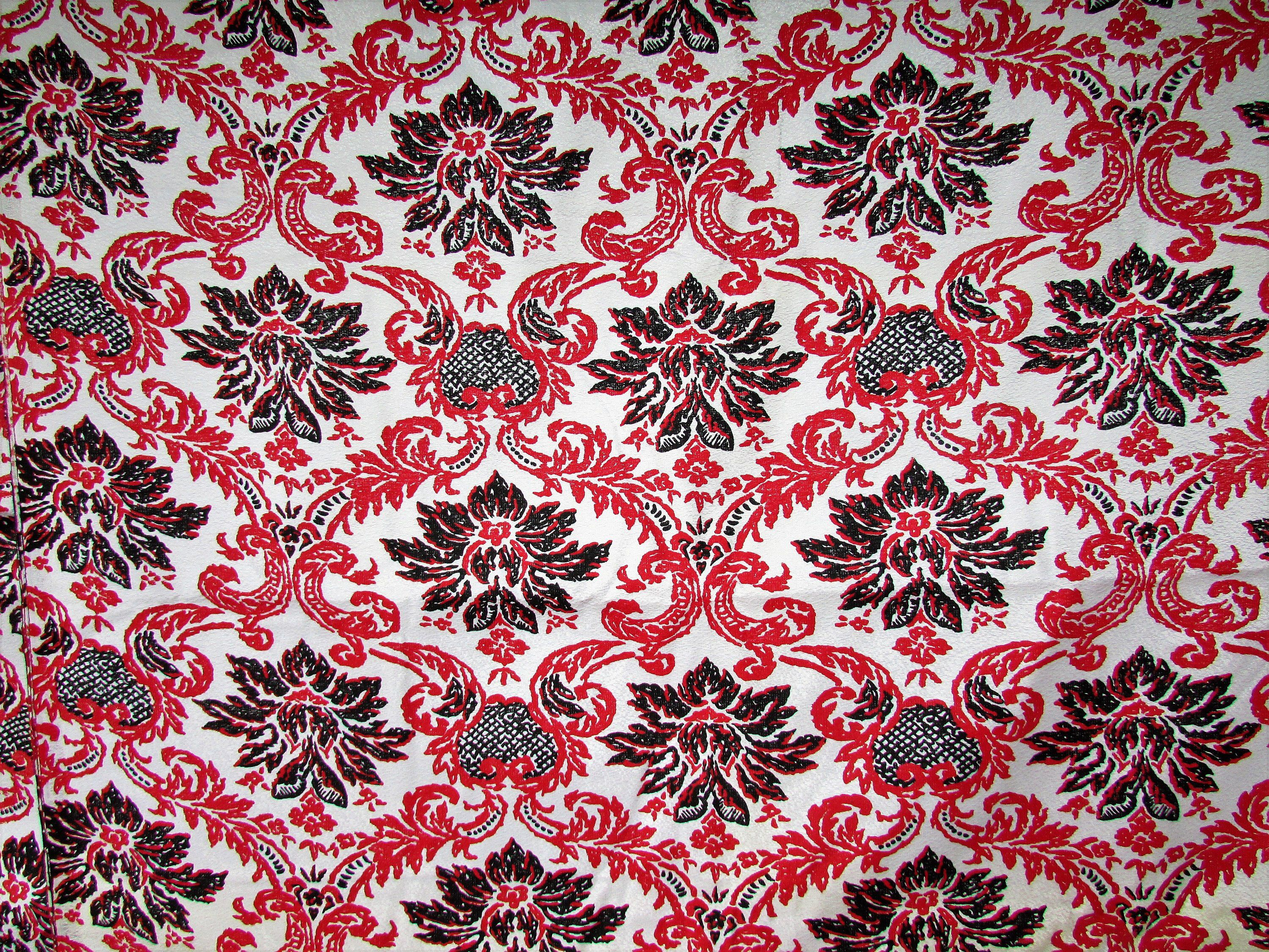 How Many Yards Of Fabric For Curtains Vintage Lined Curtain Fabric Mid Century Red Black Mcm Modern