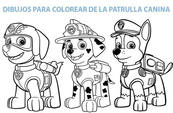 Resultado De Imagen Para Patrulla Canina Para Colorear Patrulla