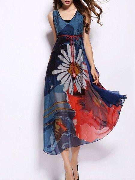 Big hem dress Silk Midi dress