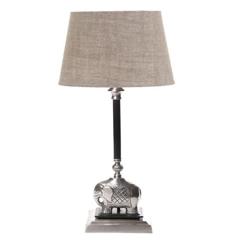 Sabu Table Lamp Base Dark Antique Silver The Lighting Lounge