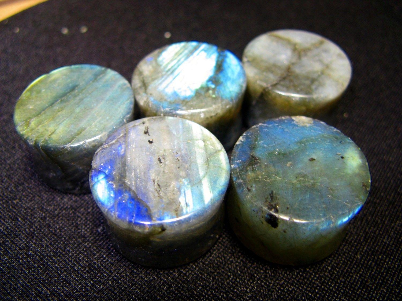 "PAIR Teardrop Crazy Lace Stone Plugs Gauges 8g,6g,4g,1//2/"""