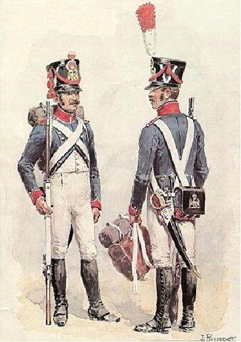 Fucilieri di un rgt. di fanteria francese