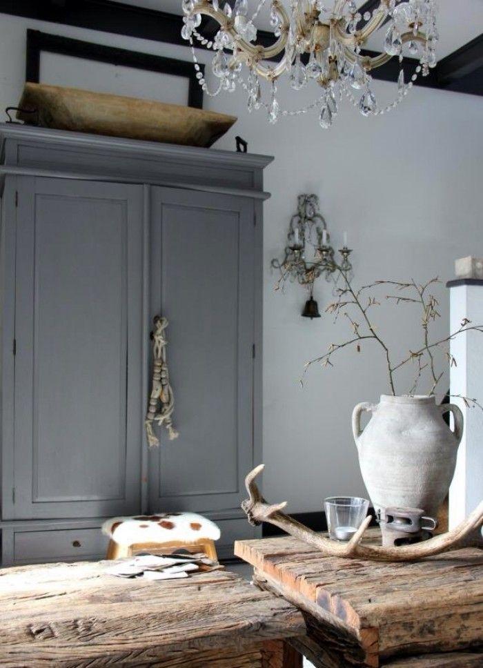 mooie grijze kleur voor een oud houten kast wonen pinterest