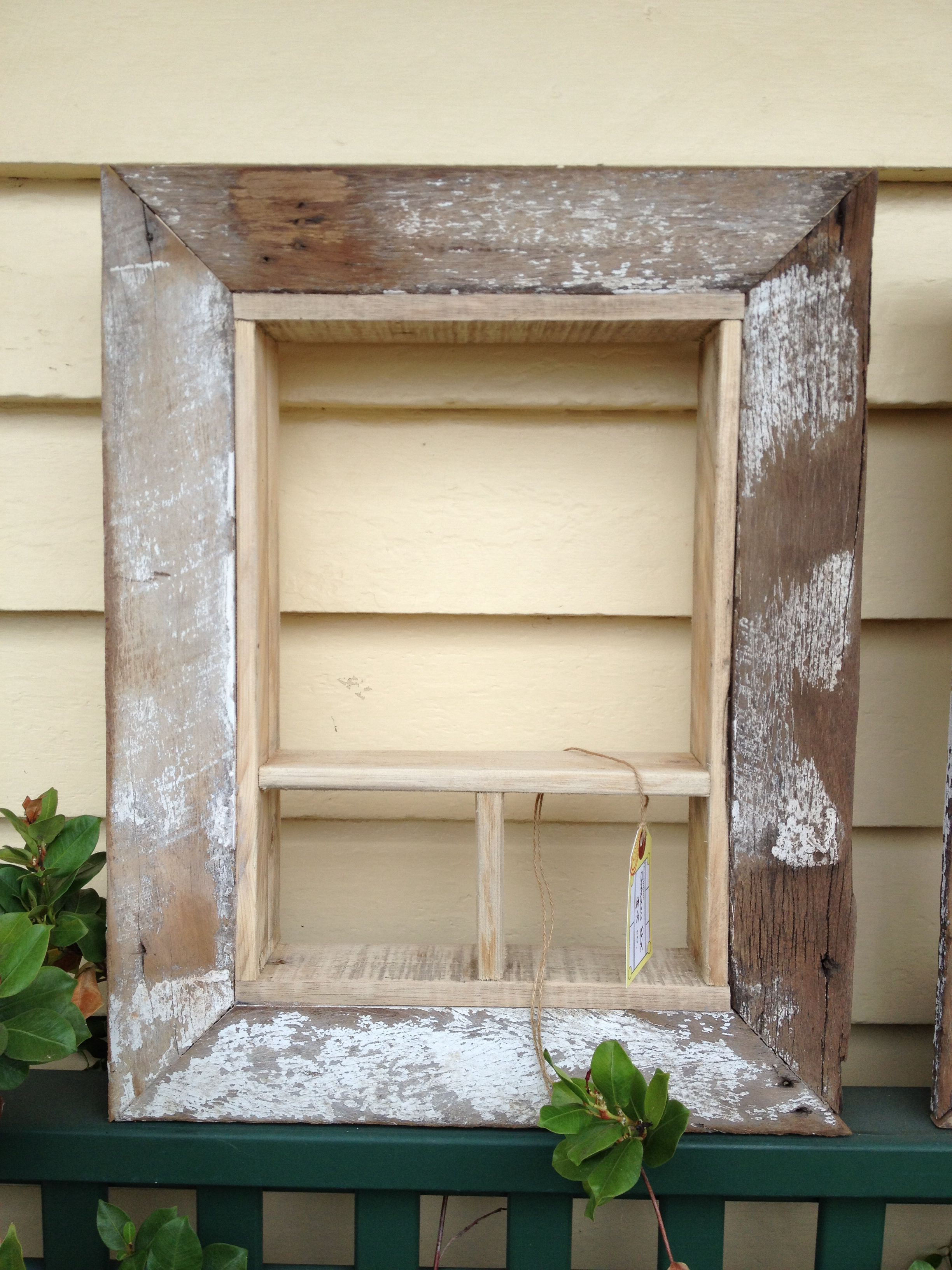 DIY Pallet furniture, I made this shadow box picture frame from some ...