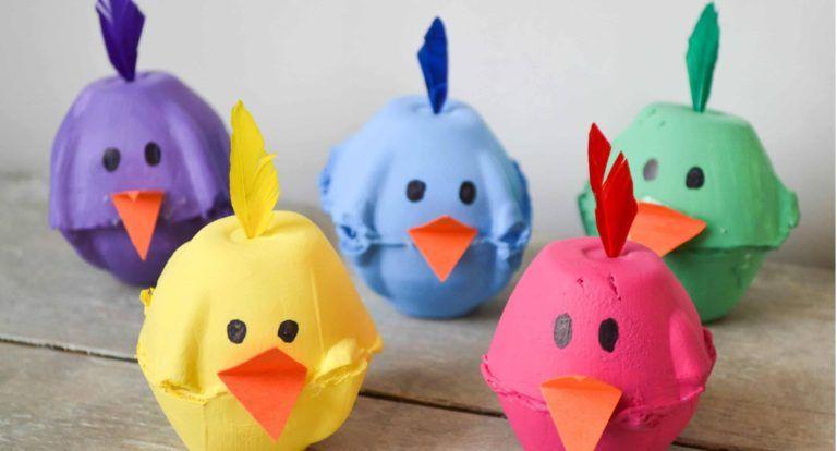 Idee Creative Per Bambini : Lavoretti con cartoni delle uova idee creative per bambini