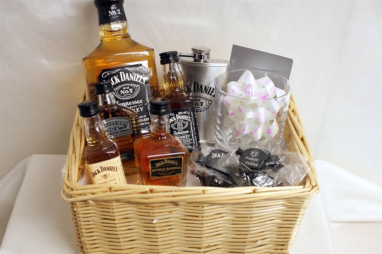 jack daniels gift basket happy marriage date night
