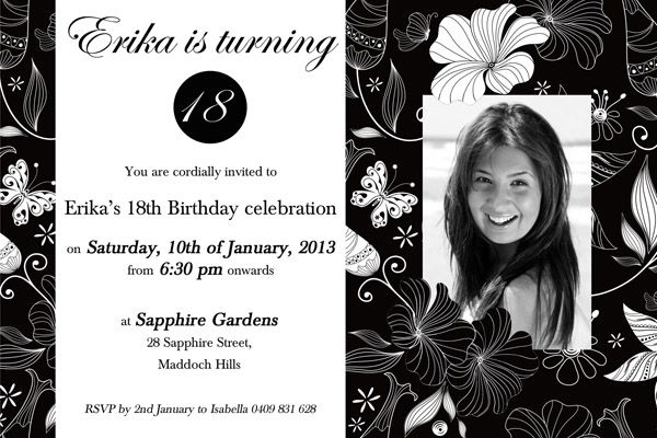 18th Birthday Invitations September 13 2015 Asand TemplatePublished At By The Breathtaking Digital Imagery Below