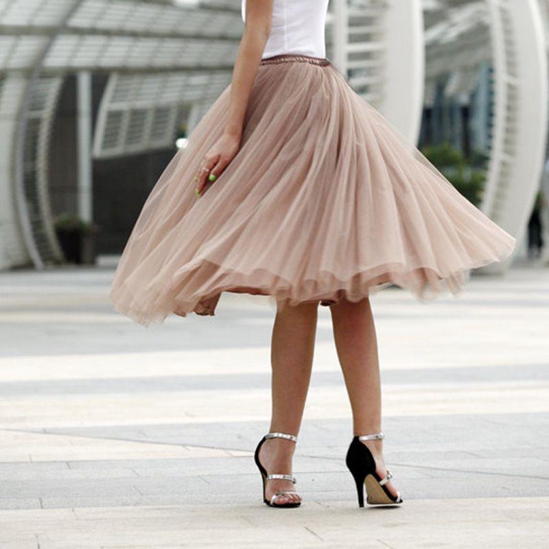 0b08c75e03 Tutu Tulle Skirt Women Girls Princess Fluffy Pleated Tulle Skirts Ball Gown  Empire Rokken Custom Made 7 Layers Summer Price: 59.76 & FREE Shipping # ...