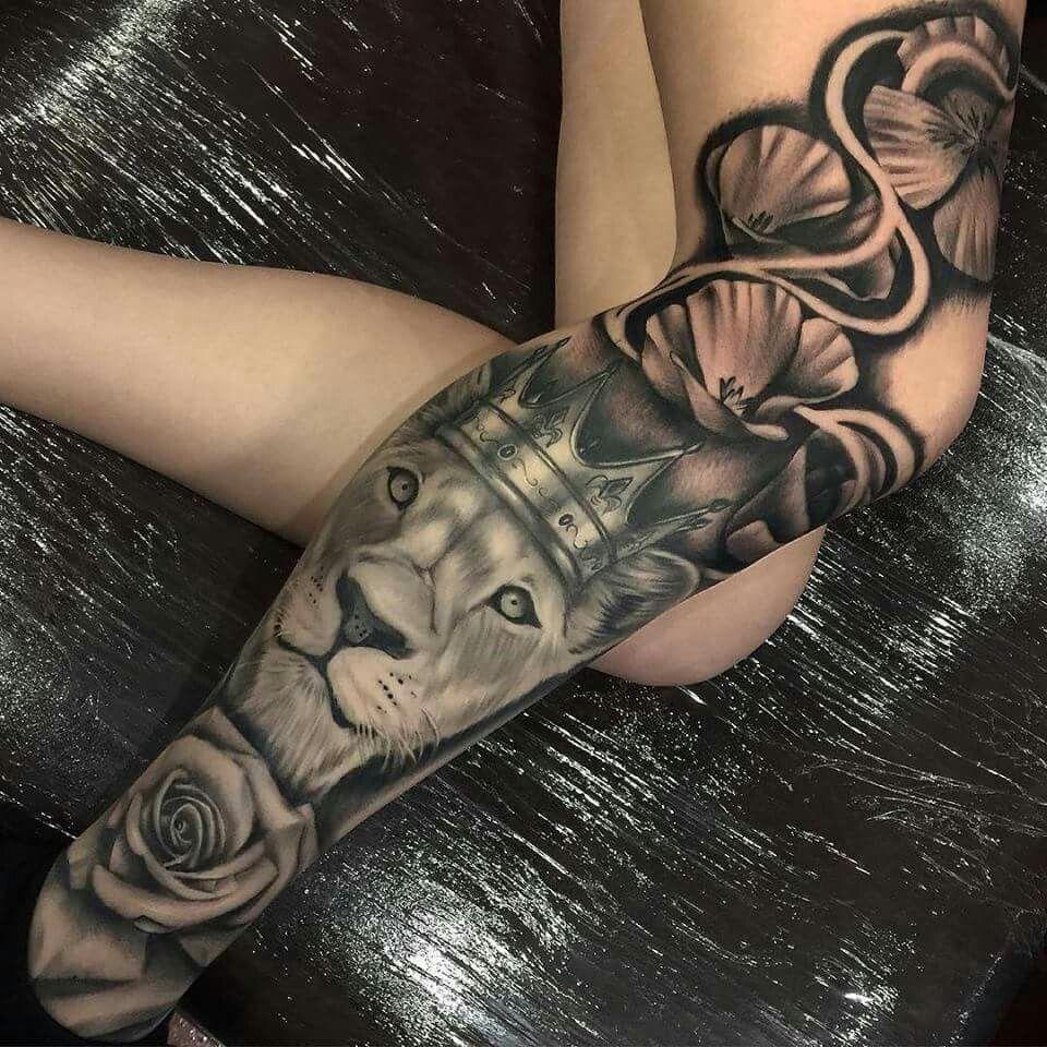 Tatuaje Leon Pierna Tatuajes Tatuajes Pierna Tatuajes Brazo Y