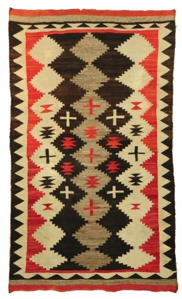 Navajo Rug Diamond Cross Pattern Native American Rugs Navajo