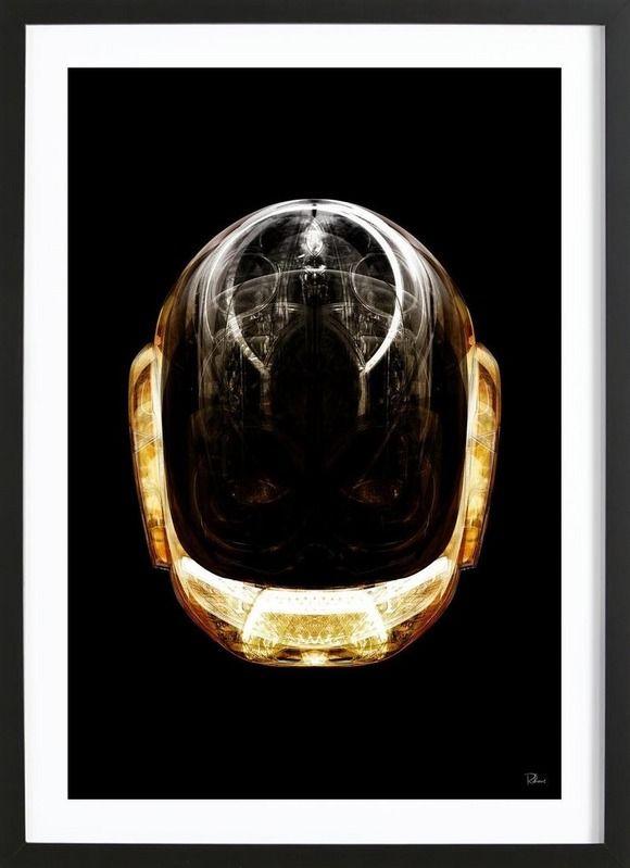 Daft Gold en Affiche premium encadrée par Rubiant | JUNIQE