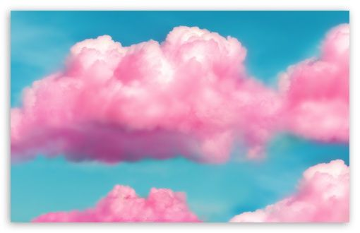 Pink Fluffy Clouds wallpaper in 2019 Pink clouds, Cotton