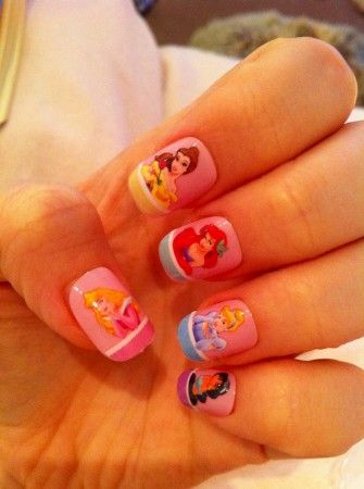 LOVE these Diseny nails. Which Disney Princess do you love?