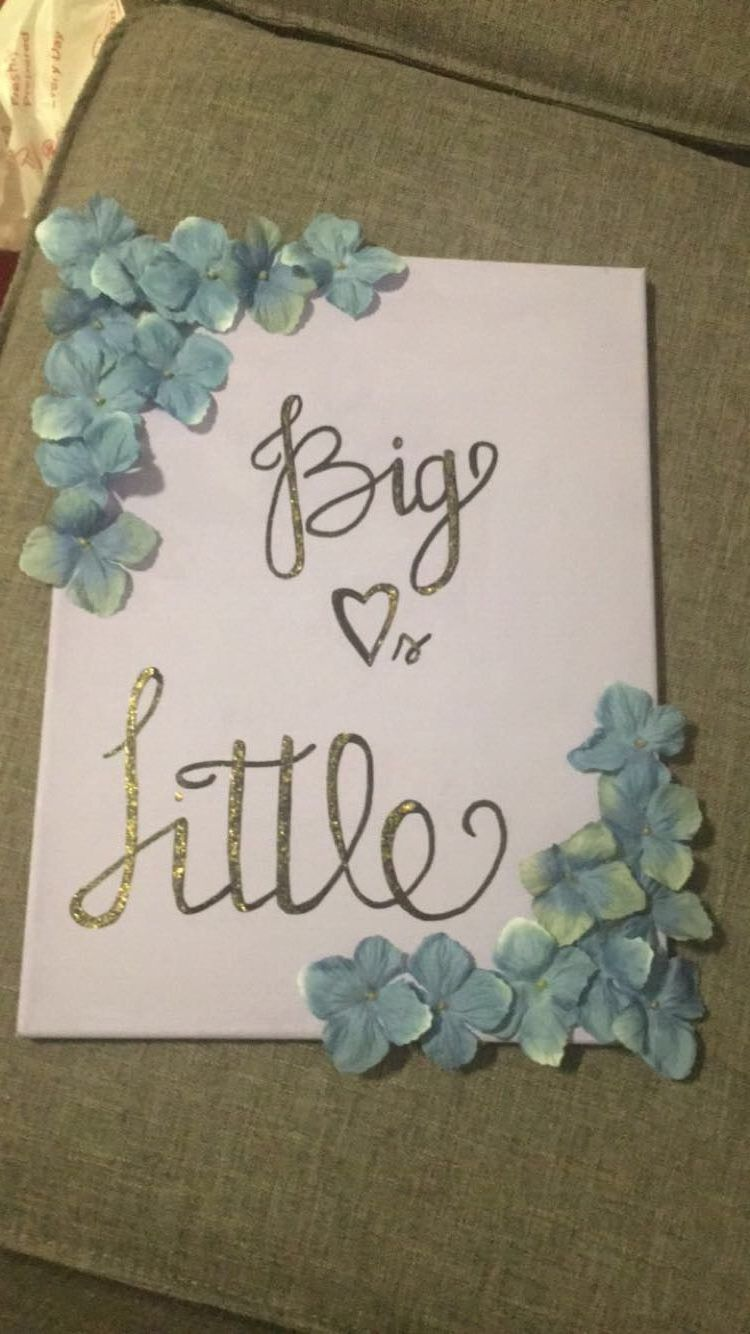 Big Little Canvas | Big little canvas, Sorority big little ...