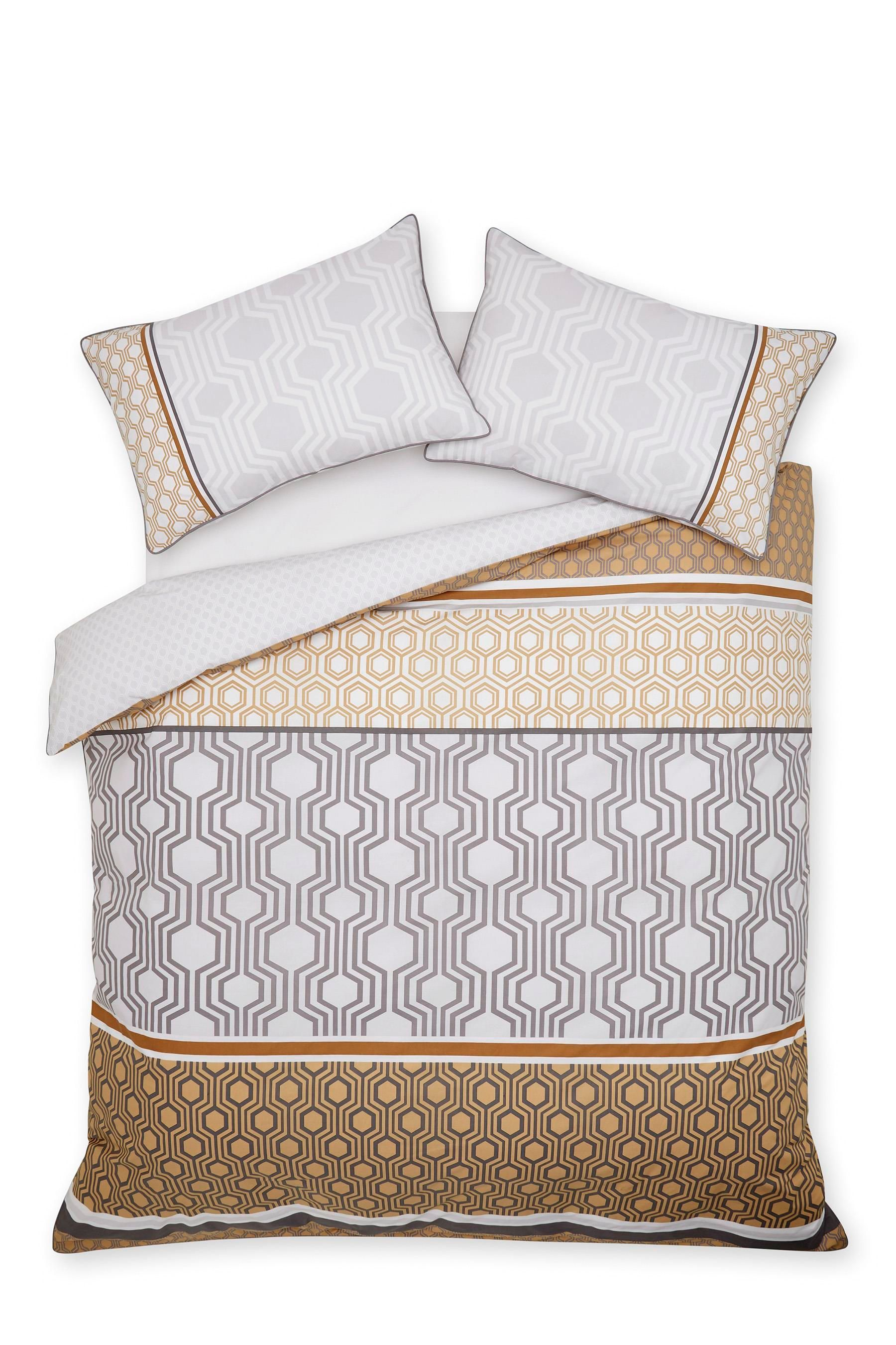 Moroccan Bedroom Furniture Uk Buy Cotton Rich Luxe Geo Stripe Bed Set From The Next Uk Online