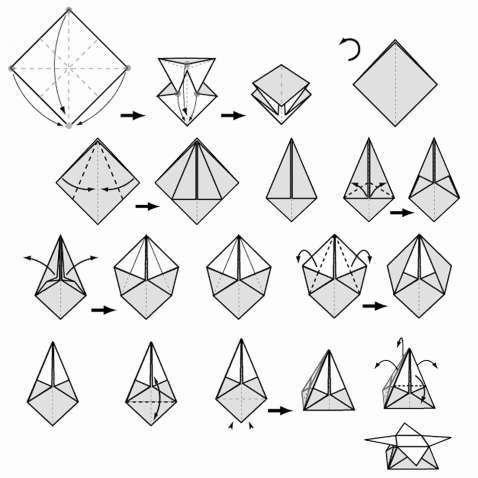 Origami Instructions Star Box . Luxury origami