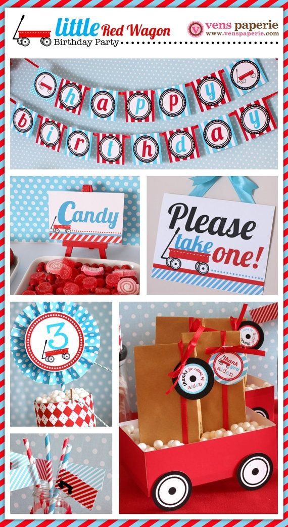 radio flyer party radio flyer red wagon party package personalized by venspaperie 35