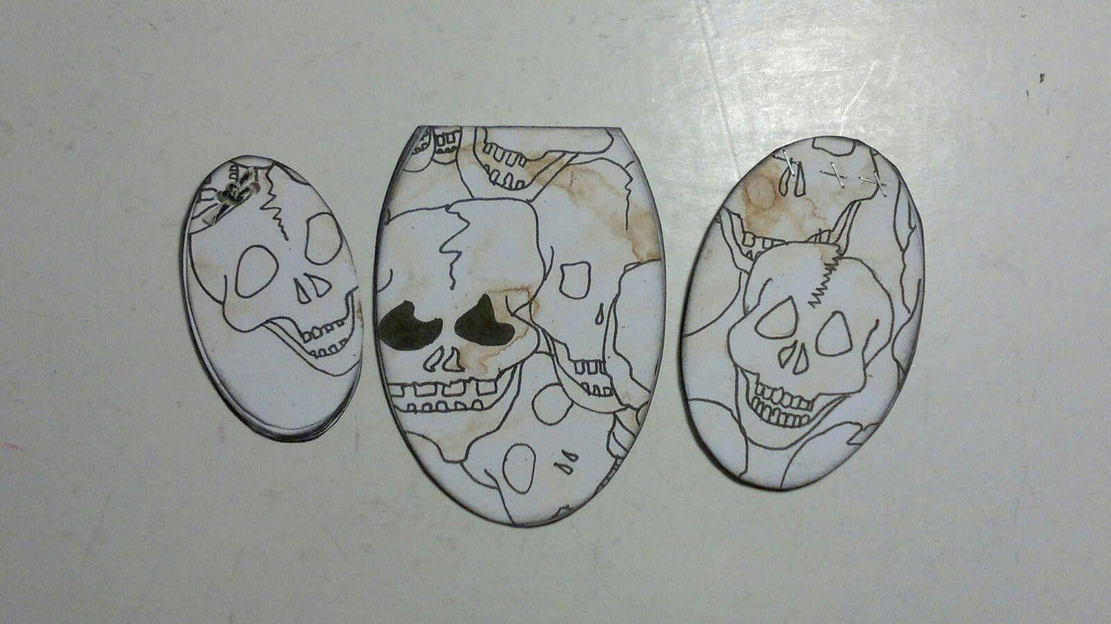 DIY Seje Æg Lav selv tegne blokke. Gratis kranie motiv og æg skabeloner download
