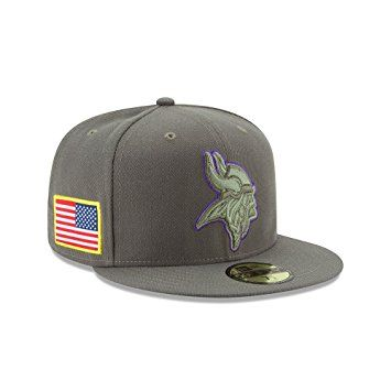 0ad667372 New Era 59Fifty Hat Minnesota Vikings NFL On-field Salute to Service Fitted  Cap Review
