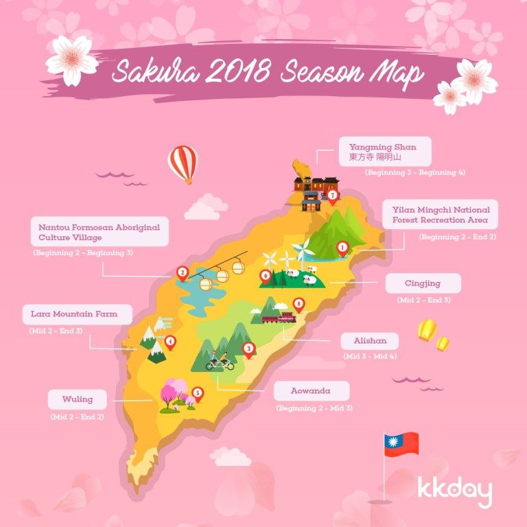 Cherry Blossom In Taiwan 2021 Forecast The Best Time 8 Best Places To See Cherry Blossoms In Taiwan Living Nomads Travel Tips Guides News Informat Taiwan Cherry Blossom Taiwan Travel