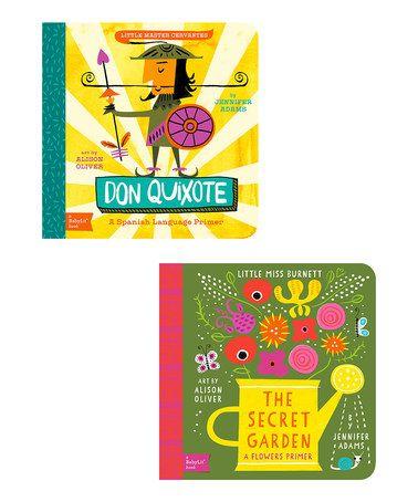 Another great find on #zulily! The Secret Garden & Don Quixote Board Book Set #zulilyfinds
