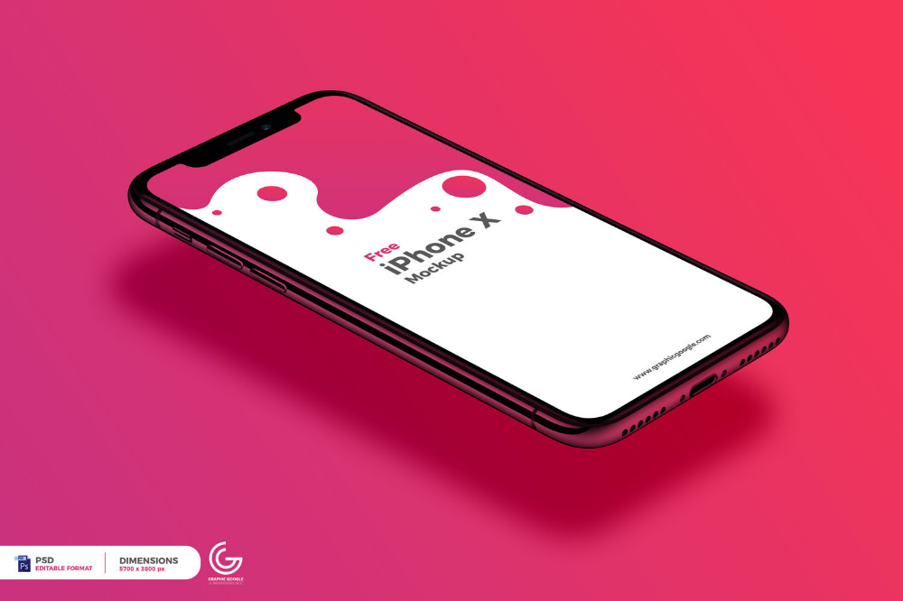 Free Perspective View Iphone X Mockup Free Mockup Iphone Mockup Free Iphone Iphone Mockup
