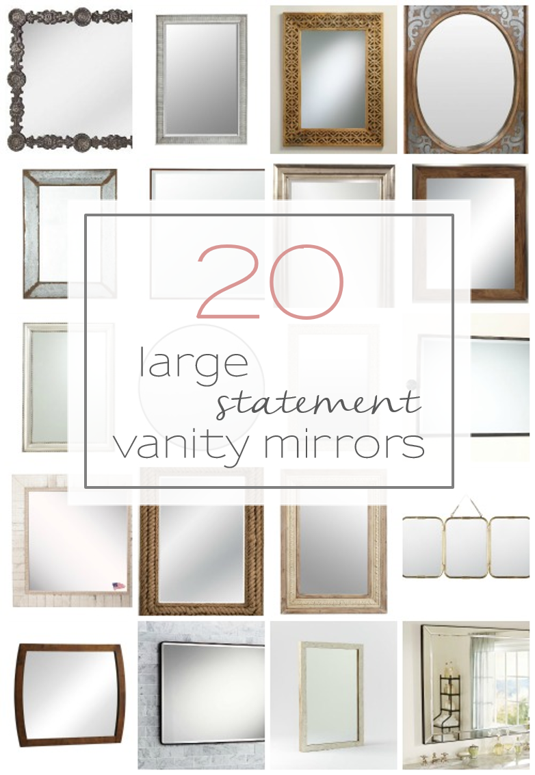 20 Big Beautiful And Unique Vanity Mirrors For Your Bathroom
